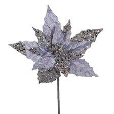 """11"""" Velveteen Artificial Christmas Poinsettia Flower Pick"""