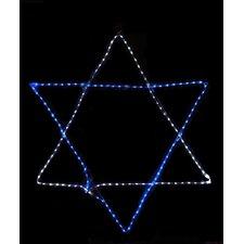Rope Light Star of David Hanging Hanukkah Decoration