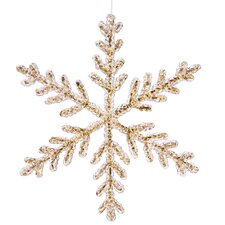 Icy Crystal Glitter Large Snowflake Christmas Ornament