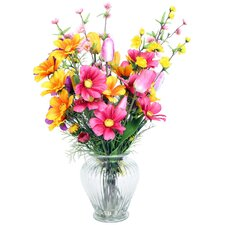 Floral Mixed Spring in Glass Vase