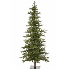 Shawnee Fir 8' Green Alpine Artificial Christmas Clear Lights with 450 Clear Lights with Stand