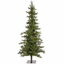 Shawnee Fir 8' Green Alpine Artificial Christmas with 450 Multicolored Lights with Stand