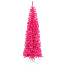 7.5' Pink Artificial Christmas Tree with 400 Pink Mini Lights