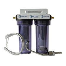 Refillable Double Housing Under Counter Fluoride Filter