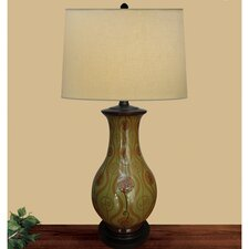Spring Swirl Table Lamp with Empire Shade