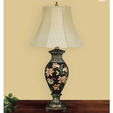 """The Garden 32"""" H Table Lamp with Bell Shade"""