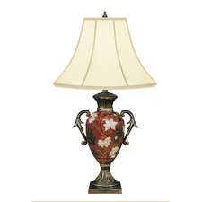 "Flower Vase 28"" H Table Lamp with Bell Shade"