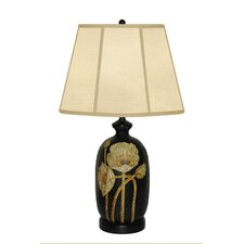 "Blooming Flower 29"" H Table Lamp with Empire Shade"