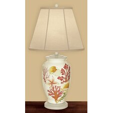 """Deep Sea 27"""" H Table Lamp with Empire Shade"""