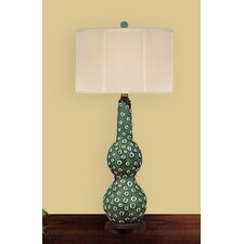 """Marble Dots 32"""" H Table Lamp with Drum Shade"""