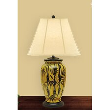 """Bamboo 27"""" H Table Lamp with Empire Shade"""