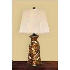 "Flower 28"" H Table Lamp with Empire Shade"