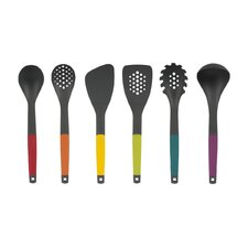 6 Piece Modern Lift Brights Austin Utensil Set
