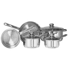 Classicor 8-Piece Stainless Steel Cookware Set with Lids