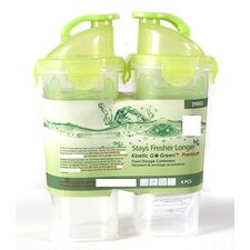 Fresh 20 Oz. Plastic Shaker with Sealed Lid (Set of 2)