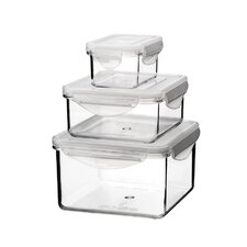 Go Green Tritan 3 Piece Rectangular and Square Food Storage Set with Lids