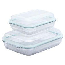 Go Green Plus Oven Safe Rectangular Food Storage Container Set