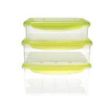 Fresh Series 6 Piece Rectangular Food Container  Set
