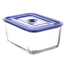GoGreen Glasslock Premier103 oz. Rectangular Oven Safe Glass Food Storage Container with Vacuum Seal Lid