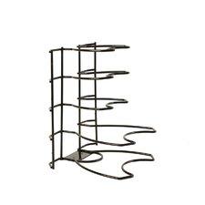Brushed Steel Wire 5 Tier Pan Organizer Rack