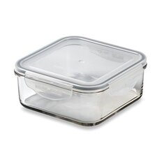 Glasslock 5.13-Cup Square Tempered Glass Container with Sealed Lid