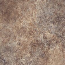 "Ovations Textured Slate 14"" x 14"" x 3.56mm Luxury Vinyl Tile in Brown"