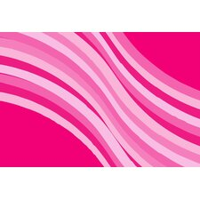 Fun Time Wacky Pink Wave Kids Rug
