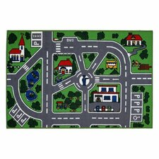Fun Time Around Town Road Area Rug