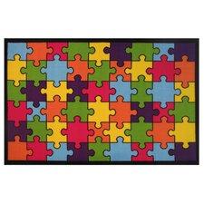 Fun Time Jigsaw Puzzle Area Rug
