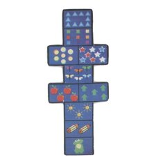 Fun Shape Medium Pile Hopscotch Area Rug