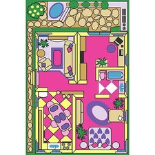 Fun Time Dollhouse Play Area Rug