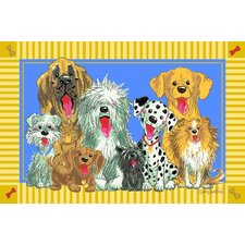 Wags and Whiskers The Dogs of Duckport Area Rug