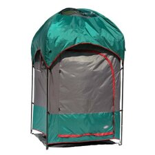Deluxe Privacy Shelter Shower Combo in Alpine Green / Steel Gray / Chile Pepper
