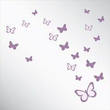 Papillon Printed Mirror Wall Décor