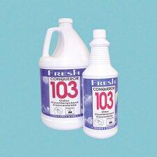 1 Quart Conqueror 103 Odor Counteractant Concentrate Lemon Scent Liquid Bottle