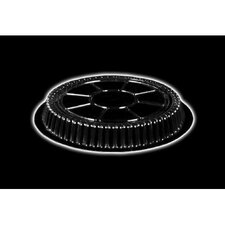 "Plastic Dome Round Lid 500/Case in Clear Fits 7"" Round Pan"