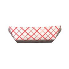 2.5 lbs Paper Food Baskets in Red / White