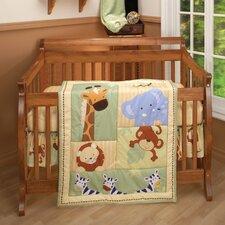 Safari Kids 3 Piece Crib Bedding Set
