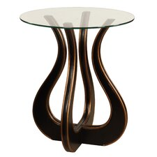 """""""Luxe"""" Glass Top End Table"""
