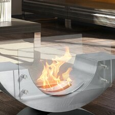 Pureflame Stainless Steel Bio-Ethanol Tabletop Fireplace