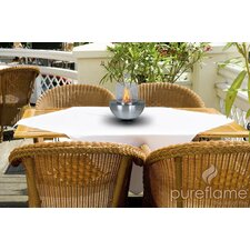 Pureflame Steel / Glass Bio-Ethanol Tabletop Fireplace