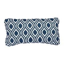 Stella Navy Wavy Indoor/Outdoor Lumbar Pillow (Set of 2)