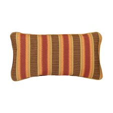 Corded Autumn Stripes Outdoor Sunbrella Lumbar Pillow (Set of 2)