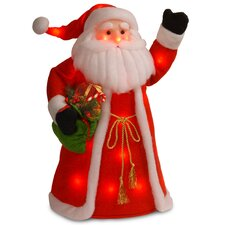 Decorative Décor Pre-Lit Standing Santa Christmas Decoration