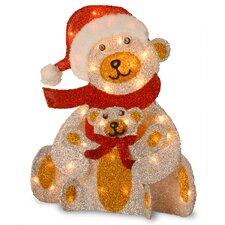 Polar Bear & Cub with 35 Clear Lights