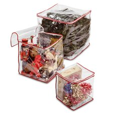 3 Piece Clear View Storage Bag Set