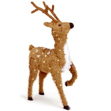 Prancing Reindeer Christmas Decoration with Clear Lights