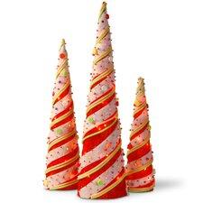 Decorative Décor 3 Piece Cone Christmas Decoration Set