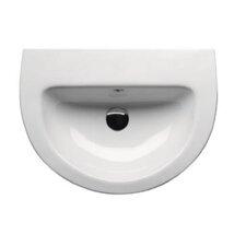 City Contemporary Curved Semi-Recessed Bathroom Sink
