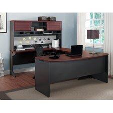 Pursuit U-Shape Computer Desk with Hutch